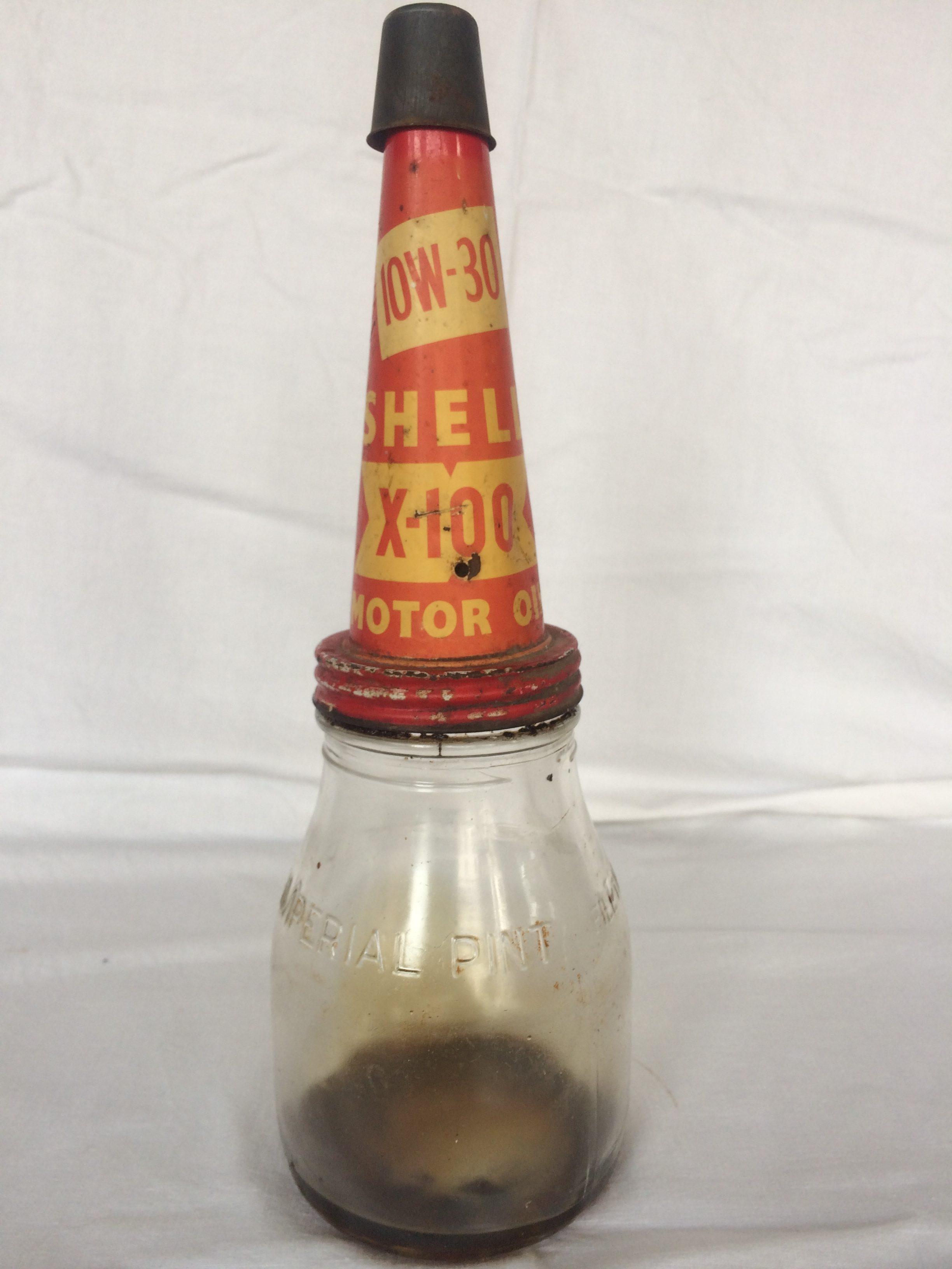 Shell x-100 10w-30 tin pourer