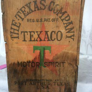 Texaco motor spirit crate