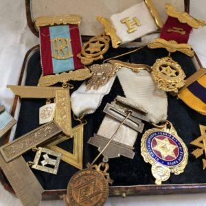 Assorted Masonic badges