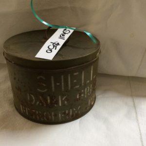 Shell grease tin