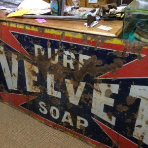 Enamel sign velvet soap original